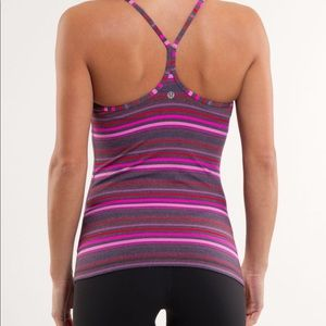 Lululemon Power Y Striped Tank Top Multi Color